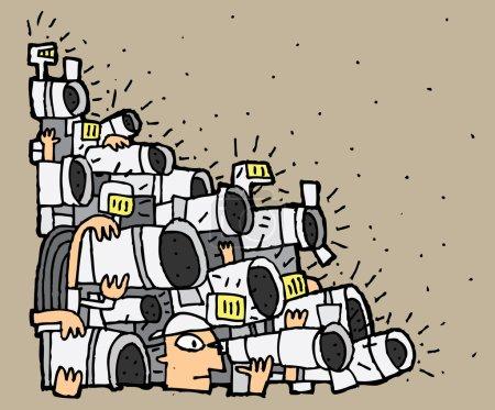 Paparazzi cartoon No.2