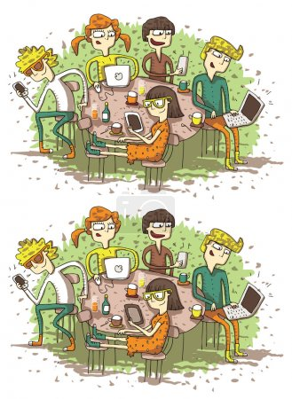 Web Friends Differences Visual Game