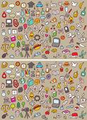 Ikony rozdíly vizuální hra