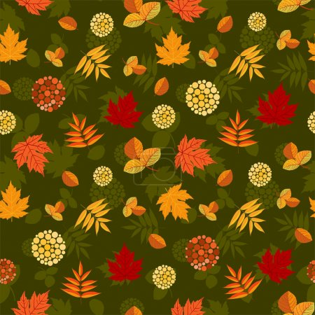 Luxuriant seamless pattern with autumn