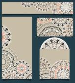 Branding Design With Tribal Art Pattern
