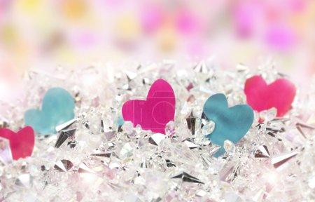 Heart and diamonds