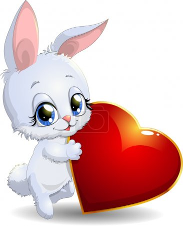 Rabbit and heart