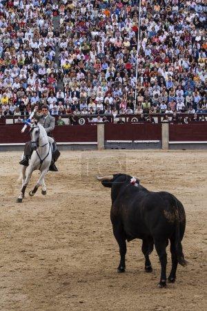 Rejoneo at Las Ventas arena in Madrid. Rejoneador: Sergio Galan
