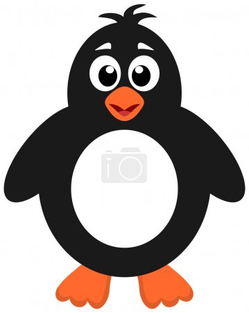 Illustration pour Un pingouin mignon - image libre de droit