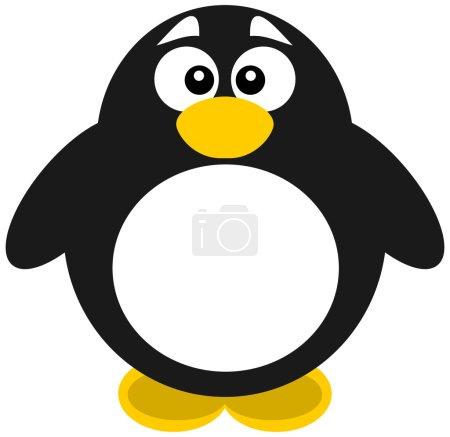 Illustration pour Un gros pingouin - image libre de droit