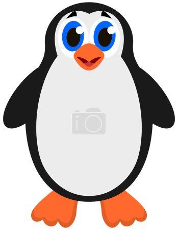 Illustration pour Un pingouin empereur mignon - image libre de droit