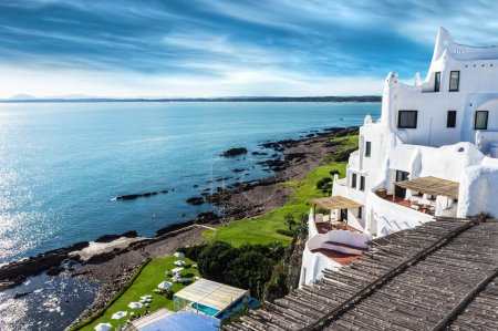 A view of the Casapueblo resort located in Punta B...