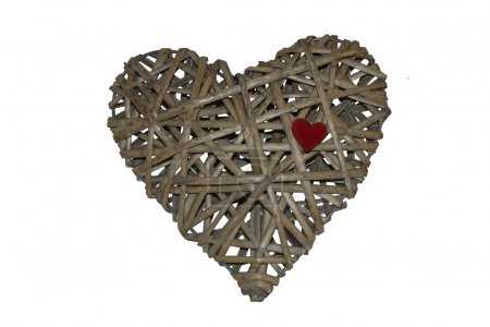 Heart made of wicker, labyrinth heart, holiday VALENTINES DAY