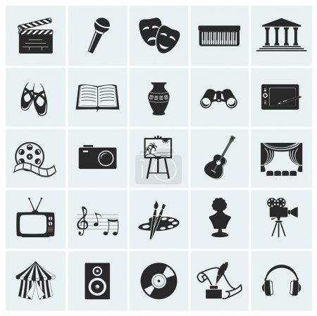 Illustration for Collection of 25 arts and creative icons. Vector illustration. - Royalty Free Image