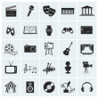 Collection of 25 arts and creative icons. Vector i...