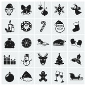 Collection of 25 Christmas icons Vector illustration