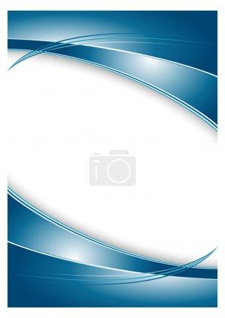 Illustration pour Résumé fond bleu pour la brochure - image libre de droit