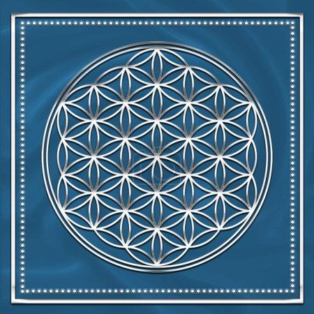 Flower of life - sacred geometry - symbol harmony and balance