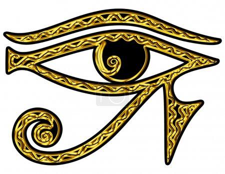Photo pour Horus Eye - All Seeing Eye Of God - Symbole Omniscience - image libre de droit