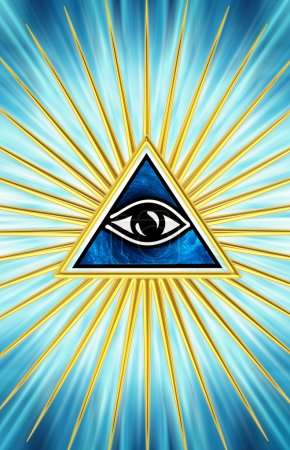 Photo pour Eye Of Providence - All Seeing Eye Of God - Symbole Omniscience - image libre de droit