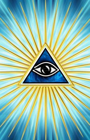 Photo pour Œil d'omniscience de symbole de la providence - tous les aveugles de Dieu- - image libre de droit