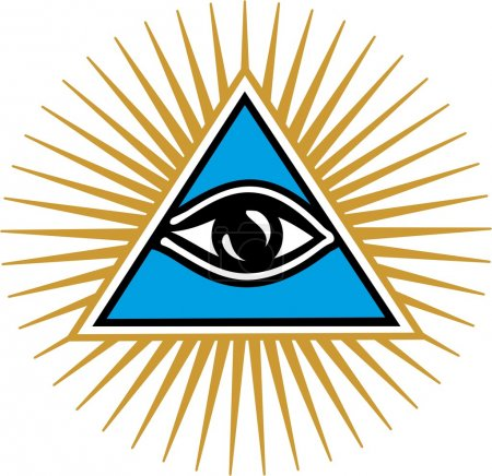 Illustration for Eye Of Providence - All Seeing Eye Of God - Symbol Omniscience - Vector Image - Royalty Free Image