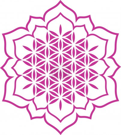 Flower of life - Lotus flower - symbol healing and harmony
