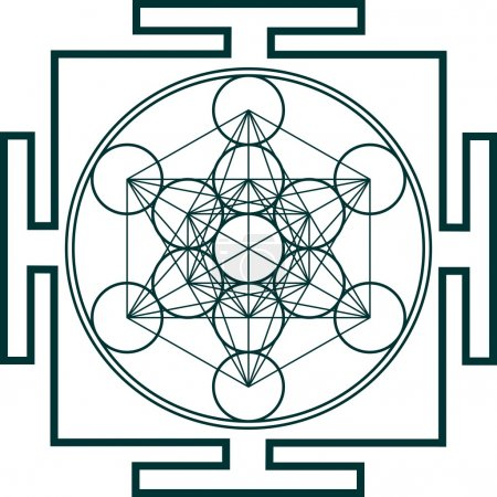 Photo for Metatron's Cube represents the gridwork of our consciousness and the framework of our Universe. It is the Matrix in which everything is contained in our three dimensional being. - Royalty Free Image