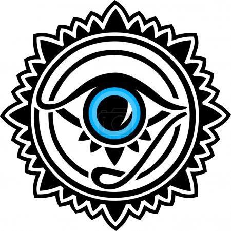 Illustration pour Nazar - amulette de protection - image libre de droit