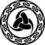 Triple Horn of Odin, Celtic endless knot - vector...