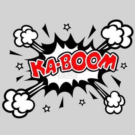 Kaboom - bulle de dialogue comique