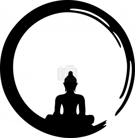 Illustration for Enso, Zen Circle - vector image - Royalty Free Image