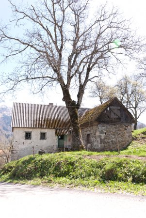 Old Country house in mountain