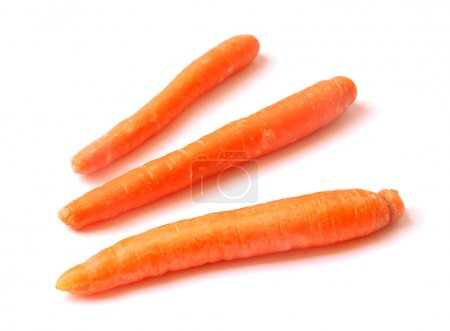 Photo for Three carrots isolated on white - Royalty Free Image