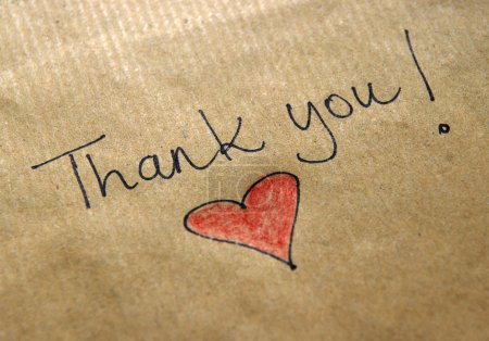 Photo for Thank you message handwritten - Royalty Free Image