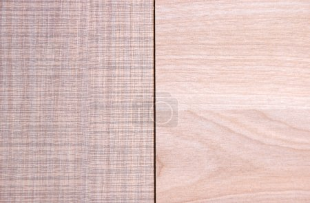 two wooden material samples