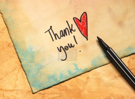 Photo for Thank you message - Royalty Free Image