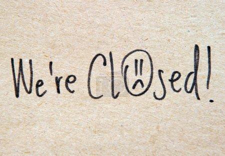 Nous sommes fermés