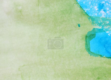 Photo for Blue and green watercolor background - Royalty Free Image
