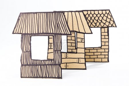 Photo for Recycled cardborad made houses - Royalty Free Image