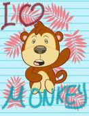 Illustration Vector of cute Monkeys