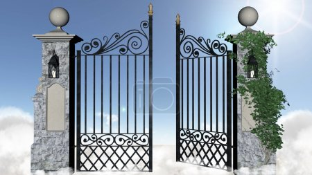 Photo for Gates of heaven. Illustration of the gates of heaven. - Royalty Free Image