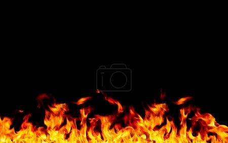 Foto de Marco de llama en negro - Imagen libre de derechos