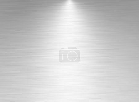 Photo for Brushed aluminum texture with light effects - Royalty Free Image