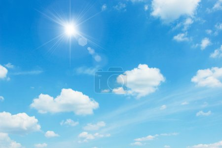 Photo for Clear sky with white cloud - Royalty Free Image
