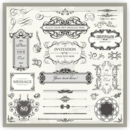 Illustration for Vintage designs - Royalty Free Image