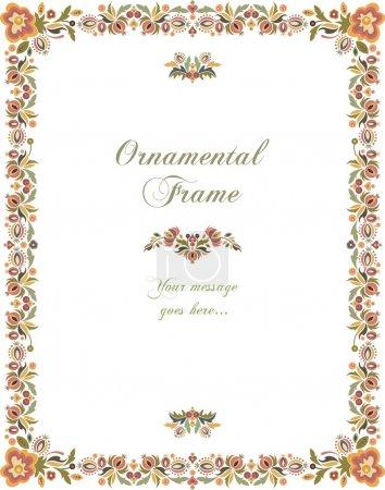Illustration pour Image ornement floral Vector style vintage. - image libre de droit