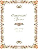 Vector Floral Ornamental Frame in Vintage Style