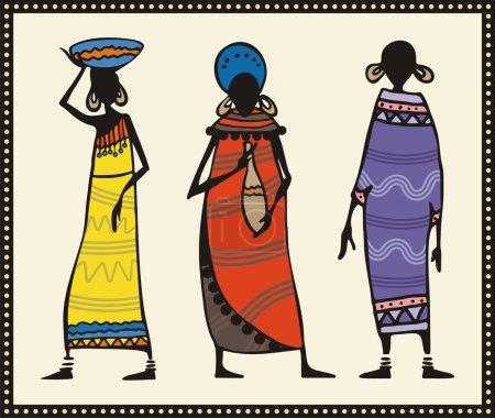 Vector African Women Set