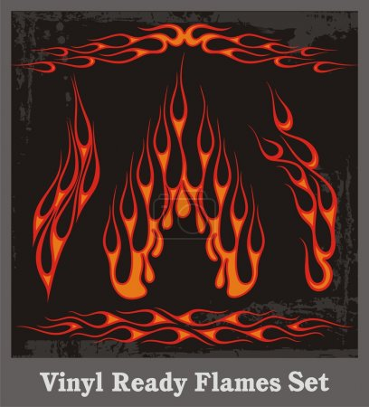 Vinyl Ready Flames Set