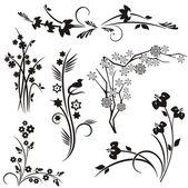 A set of 6 japanese floral designs