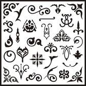 Ornamental design elements vector series