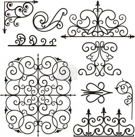Illustration for A set of 9 exquisitive and very clean ornamental designs. - Royalty Free Image