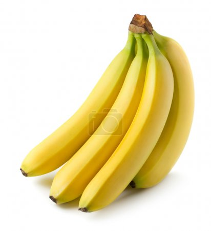 Photo for Bunch of bananas isolated on white - Royalty Free Image